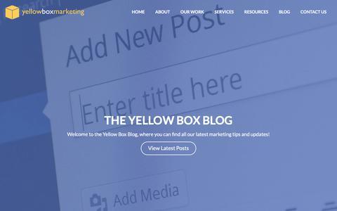 Screenshot of Blog yellowboxmarketing.co.uk - Yellow Box Marketing | Website Design Middlesbrough - captured Nov. 4, 2017