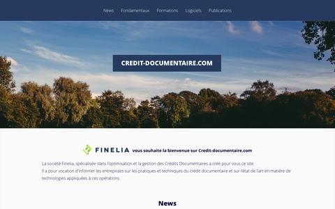 Screenshot of Home Page credit-documentaire.com - Credit-documentaire.com - Credit-documentaire.com - captured March 25, 2017