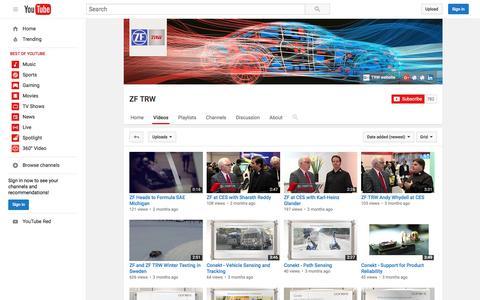 Screenshot of youtube.com - ZF TRW  - YouTube - captured July 23, 2016