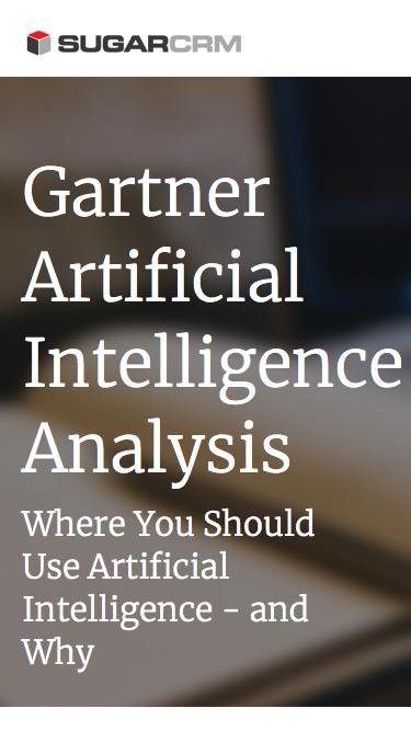 SugarCRM | Gartner Artificial Intelligence Analysis