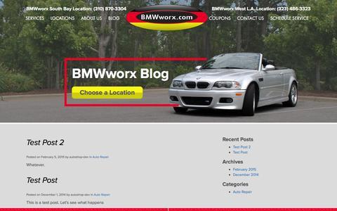 Screenshot of Blog bmwworx.com - Blog | BMWworx - captured March 7, 2016