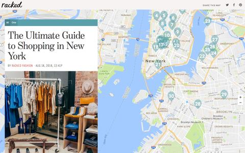 Screenshot of Maps & Directions Page racked.com - The Ultimate Guide to Shopping in New York - captured Aug. 20, 2016