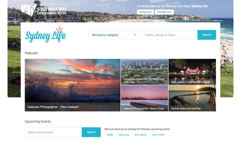 Screenshot of Blog sydney.com - Sydney Life   What's on in Sydney, Things to Do, Events & more! - captured Dec. 30, 2016