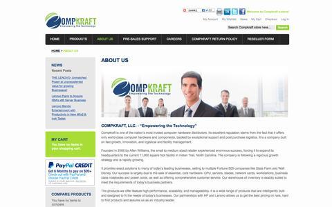 Screenshot of About Page compkraft.com - About Us - captured Dec. 10, 2015