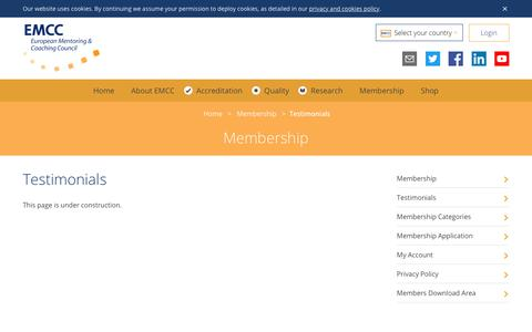 Screenshot of Testimonials Page emccouncil.org - Testimonials – European Mentoring & Coaching Council - captured Sept. 25, 2018