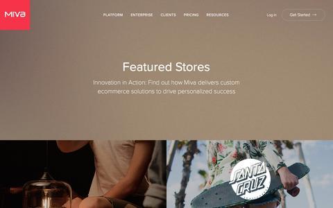 Screenshot of Testimonials Page miva.com - Featured Stores & Testimonials   Miva, Inc - captured Oct. 14, 2017