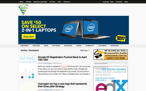 Screenshot of Developers Page androidspin.com - AndroidSPIN   Developers - AndroidSPIN - captured Sept. 19, 2014