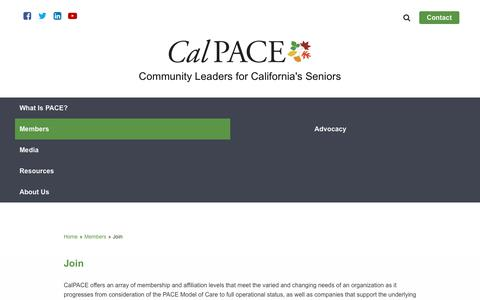 Screenshot of Signup Page calpace.org - Join | Home Care Assistance & Senior Care Services | CalPACE - captured Nov. 4, 2018