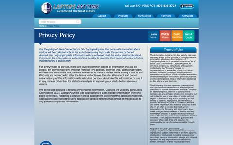 Screenshot of Privacy Page laptopsanytime.com - LaptopsAnytime Privacy Policy - captured Dec. 7, 2018