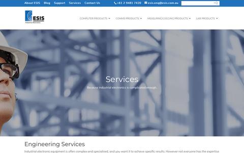 Screenshot of Services Page esis.com.au - Services - Esis - captured Nov. 10, 2018
