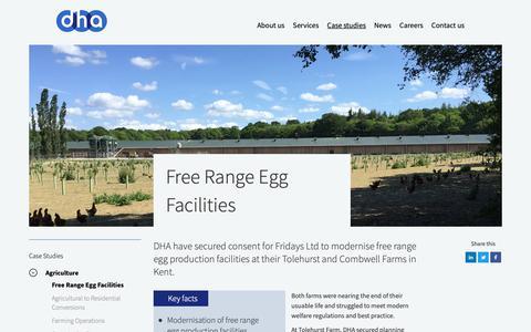Screenshot of Case Studies Page dhaplanning.co.uk - Free Range Egg Facilities - DHA Planning - captured Oct. 7, 2018