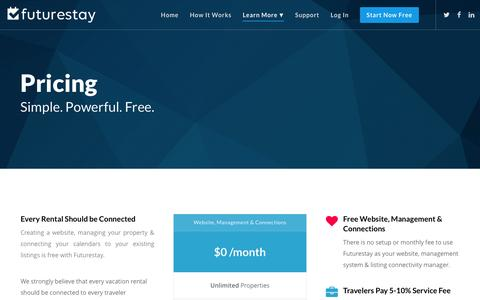 Screenshot of Pricing Page futurestay.com - Pricing | Futurestay - captured Jan. 8, 2016