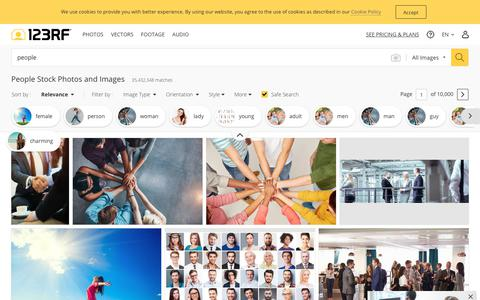 Screenshot of Team Page 123rf.com - People Stock Photos And Images - 123RF - captured Sept. 22, 2019