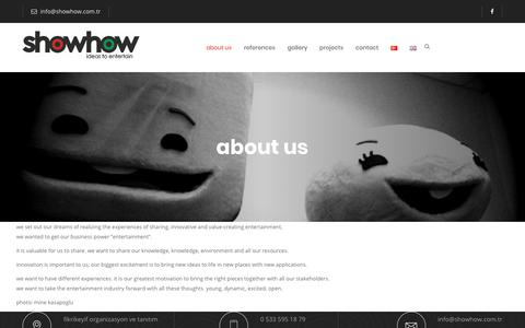 Screenshot of About Page showhow.com.tr - about us  – Showhow - captured Nov. 7, 2018