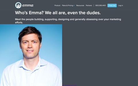Screenshot of Team Page myemma.com - Email Marketing Services - Email Marketing Software - Email Marketing   Emma, Inc. - captured Nov. 26, 2015