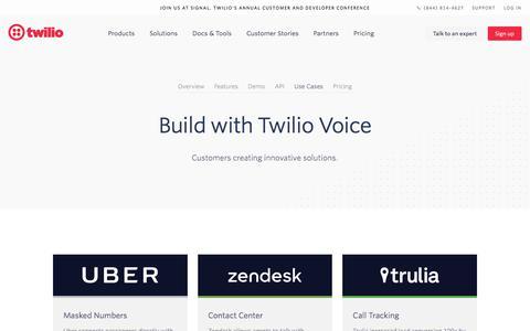Screenshot of Case Studies Page twilio.com - Voice API: Communications for Mobile & Web Apps | Twilio - captured Nov. 28, 2019