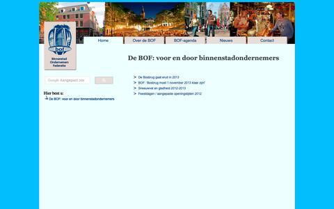 Screenshot of Home Page bof-denhaag.nl - BOF Den Haag - Binnenstad Ondernemers Federatie - captured Sept. 28, 2018