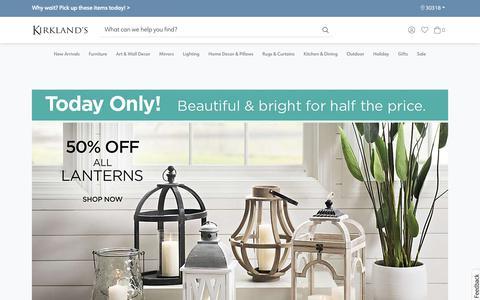 Screenshot of Home Page kirklands.com - Home Decor, Wall Decor, Furniture, Unique Gifts | Kirklands - captured Feb. 20, 2019