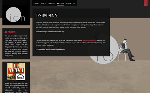 Screenshot of Testimonials Page ionproducts.eu - Testimonials and feedback | Ion Products - captured Sept. 19, 2014
