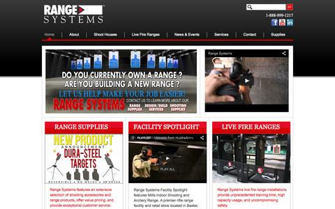 Screenshot of Home Page range-systems.com - Range-Systems - captured Sept. 30, 2014