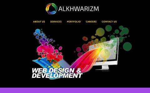 Screenshot of About Page Contact Page Services Page alkhwarizm.com - Alkhwarizm - captured Oct. 8, 2014