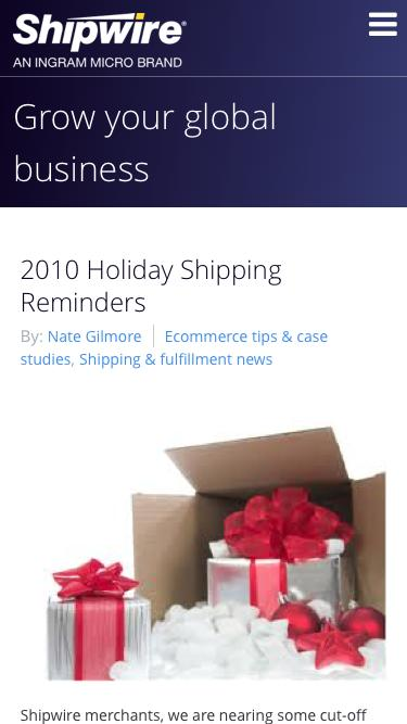 2010 Holiday Shipping Schedule, Free Shipping Day advice and Shipping Promotions