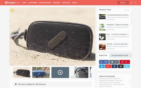 Screenshot of thegadgetflow.com - Super M Waterproof Bluetooth Speaker by NudeAudio » Review - captured March 19, 2016
