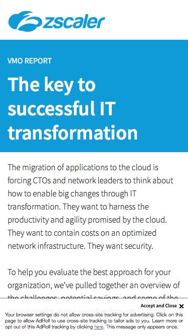 The Key To A Successful IT Transformation   Zscaler