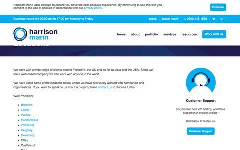 Screenshot of Locations Page harrisonmann.co.uk - Locations | Harrison Mann - captured July 16, 2018