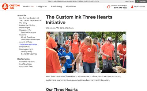 Custom Ink - Three Hearts Initiative
