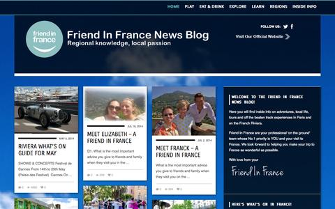 Screenshot of Blog friend-in-france.com - Friend In France - captured Oct. 6, 2014