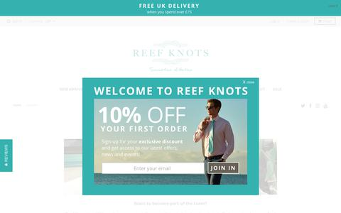 Screenshot of Jobs Page reefknots.com - Jobs - Want to work for Reef Knots? - captured Nov. 6, 2017