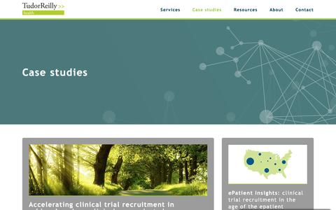 Screenshot of Case Studies Page tudor-reilly.com - Case Studies Archive | Tudor Reilly Health: Specialists in online clinical trial recruitment and patient retention - captured Oct. 24, 2017