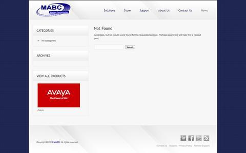 Screenshot of Press Page mabc.com - Avaya Support – Business Communication Solutions | MABC - captured Oct. 27, 2014
