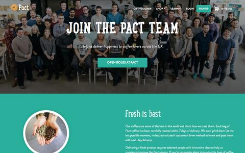 Screenshot of Jobs Page pactcoffee.com - Pact | Careers - captured Dec. 11, 2016