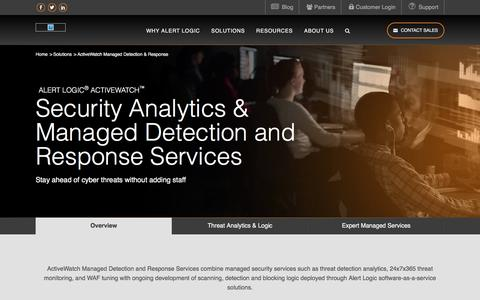 Managed Detection and Response (MDR) - Network Security Monitoring   Alert Logic