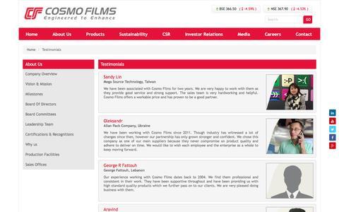 Screenshot of Developers Page cosmofilms.com - testimonial - captured Nov. 9, 2016