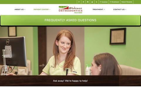 Screenshot of FAQ Page windermereorthodontics.com - Frequently Asked Questions | Suwanee, Brookhaven Orthodontics - captured Aug. 18, 2016