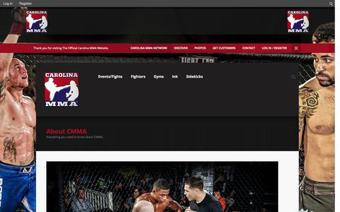 Screenshot of About Page carolinamma.com - About CMMA   Carolina MMA - captured Sept. 30, 2014