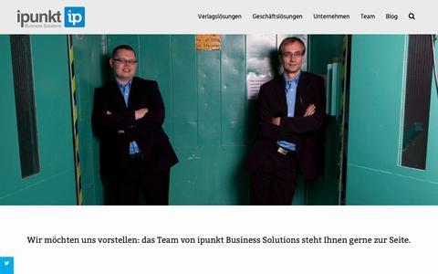 Screenshot of Team Page ipunkt.biz - Team - ipunkt Business Solutions - captured Oct. 13, 2018