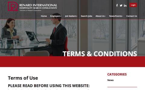 Screenshot of Privacy Page renardinternational.com - Terms & Conditions - Renard International Hospitality Search Consultants - captured Nov. 9, 2017