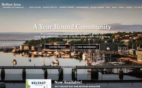 Screenshot of Home Page belfastmaine.org - Belfast Area Chamber of Commerce | Belfast, Maine - captured Oct. 10, 2017