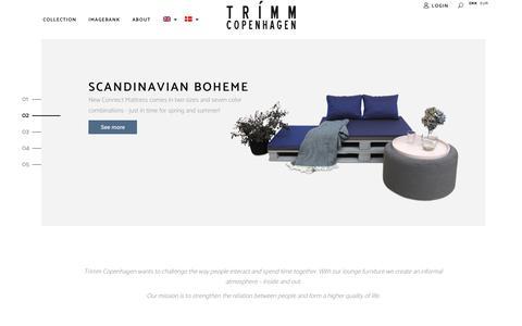 Screenshot of Home Page trimmcopenhagen.com - Main Home - Lounge Furniture from TRIMM Copenhagen - captured Oct. 20, 2018