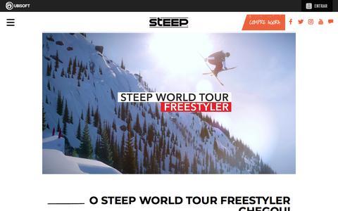 Screenshot of Press Page ubisoft.com - O Steep World Tour Freestyler chegou! | Steep - Disponível agora para PS4, Xbox One & PC | Ubisoft (BR) - captured Nov. 8, 2019