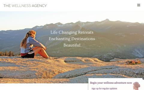 Screenshot of Home Page thewellnessagency.com - Wellness Retreat Design & Marketing | The Wellness Agency - captured Nov. 17, 2017