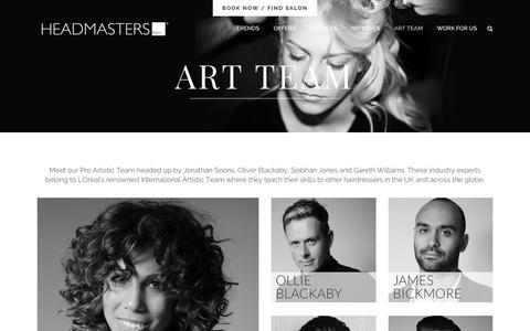 Screenshot of Team Page headmasters.com - Headmasters     Meet the Headmasters Pro Artistic Team - captured Jan. 27, 2016