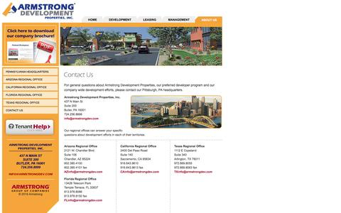 Screenshot of Contact Page armstrongdev.com - Armstrong Development Properties, Inc. - captured Feb. 6, 2016