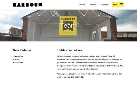Screenshot of Team Page karbouw.nl - Team - Karbouw - captured Nov. 27, 2016