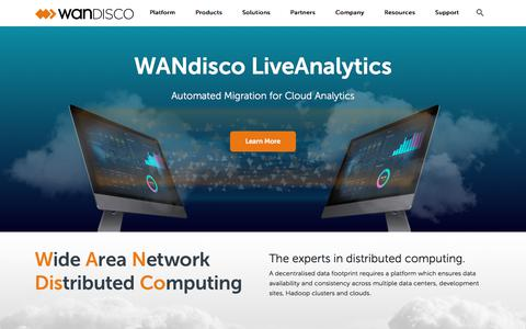 Screenshot of Home Page wandisco.com - WANdisco - Home - captured Feb. 5, 2020
