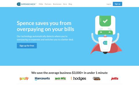 Screenshot of Home Page expensecheck.com.au - Save money with Expense Check - captured May 22, 2017